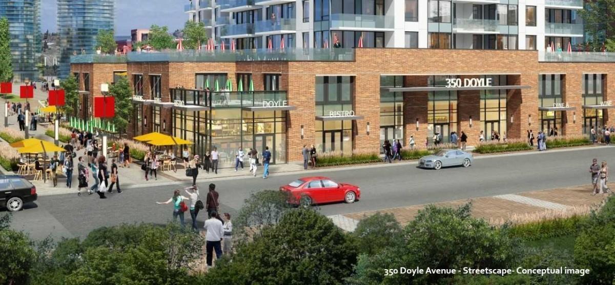 Conceptual streetscape of 350 Doyle as part of the Civic Precinct Plan