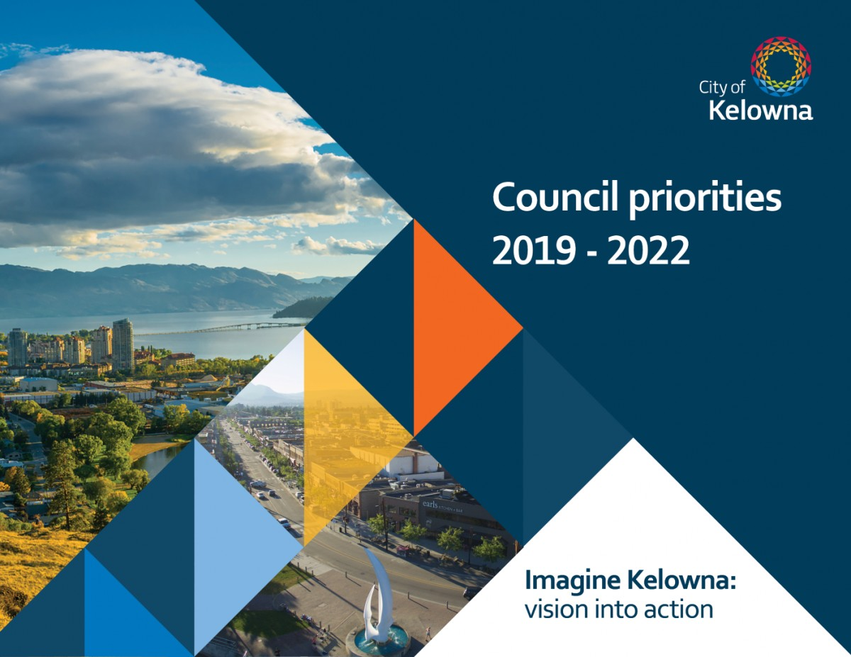 Cover of Council Priorities 2019-2022 document