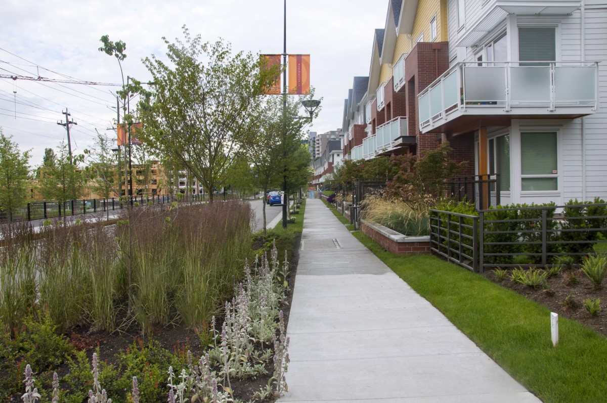 2040 OCP - Form and Character - Image of rain gardens and permeable surfacing