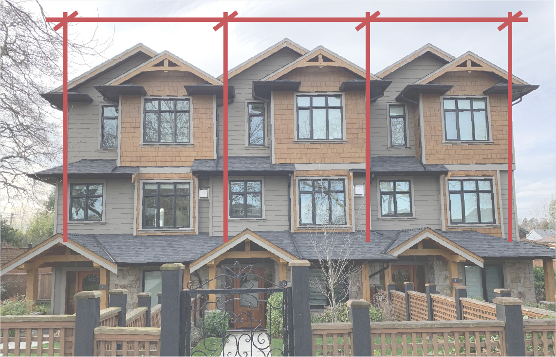 2040 OCP - Form and Character, figure 26, image example of facades being designed to articulate individual units