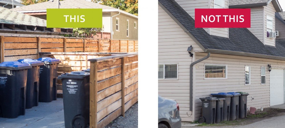 2040 OCP - Form and Character - this, not this, example of site layouts for solid waste pickup