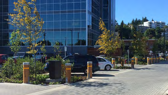 2040 OCP - Form and Character, image example of trees and landscaping to soften public and private boundaries