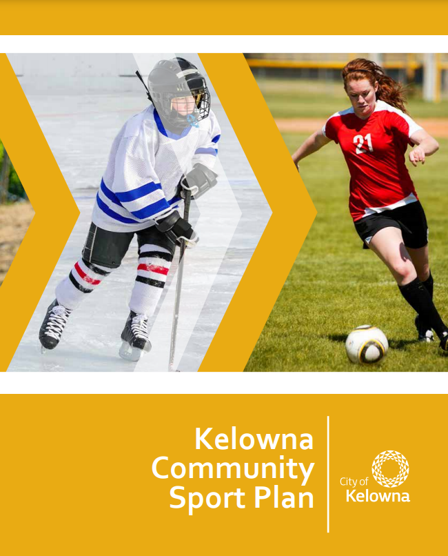 Kelowna Community Sport Plan Cover Image - youth hockey and soccer