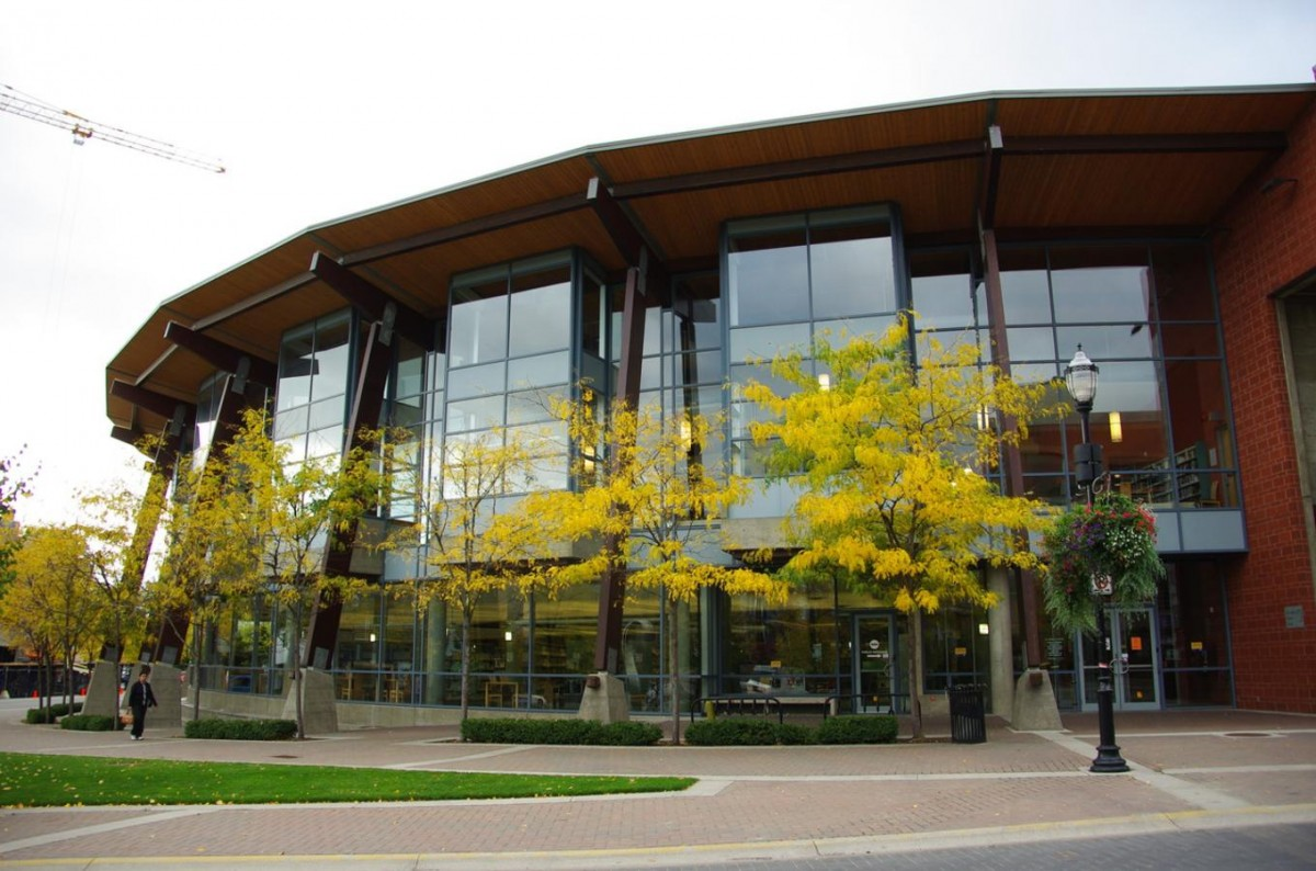 2040 OCP - Example of Institutional building in Kelowna at the Downtown Library