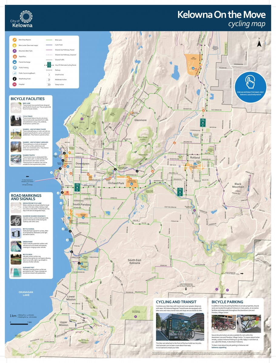 Pathway & bicycle network map | City of Kelowna