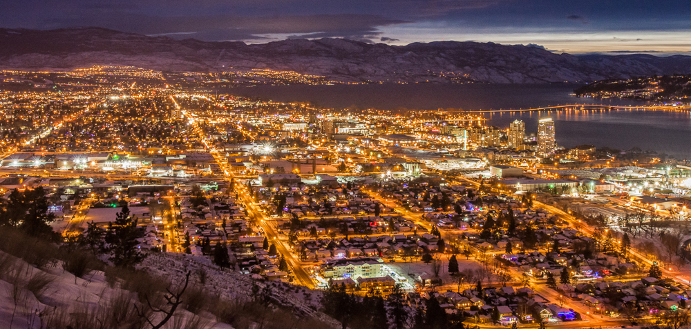 Street lights in Kelowna before LED conversion