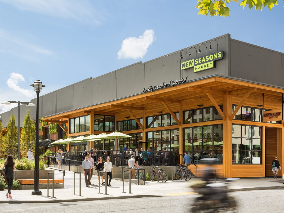 2040 OCP - Form and Character, image example of retail building with transparent frontage