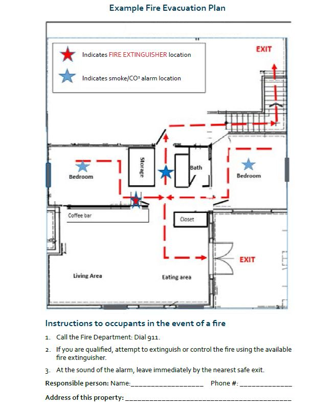 Example fire & safety plan