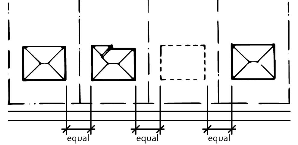 2040 OCP - Spacing between buildings should retain the established pattern