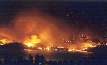 Okanagan Mountain Park fire