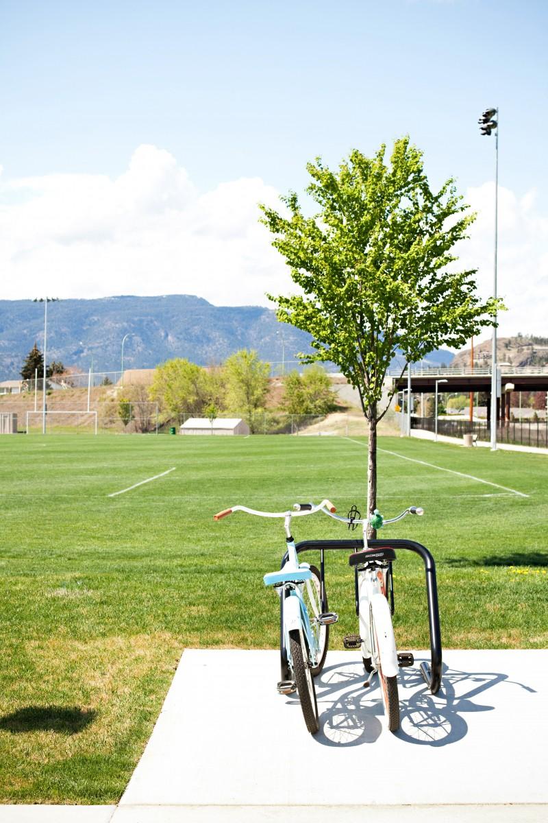 Bikes parked in Kelowna