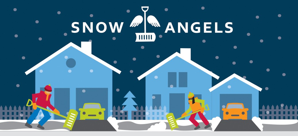Promotional graphic for the City's Snow Angels program