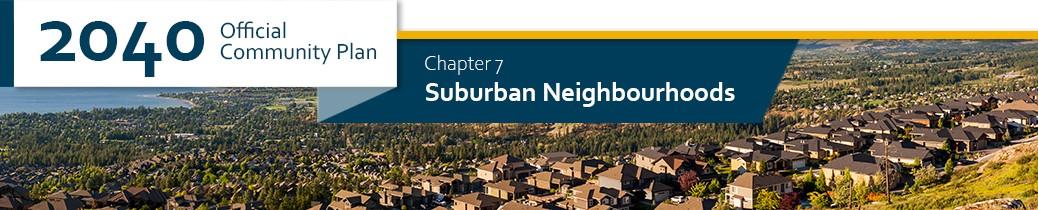 2040 OCP - Chapter 7 - Suburban Neigbhourhoods chapter header, image of Kettle Valley neighbourhood