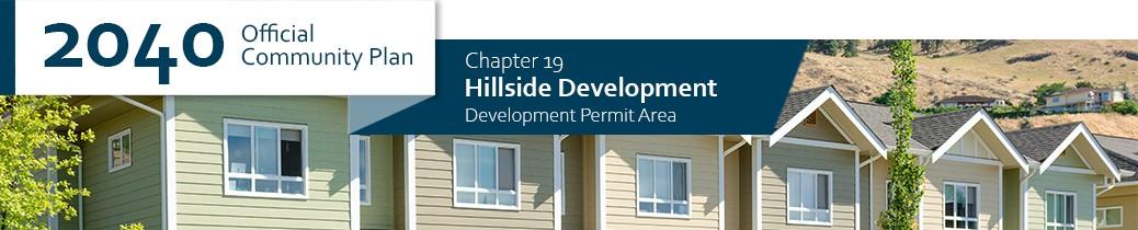 2040 OCP - Chapter 19 - Hillside Development chapter header, image of row houses on hillside