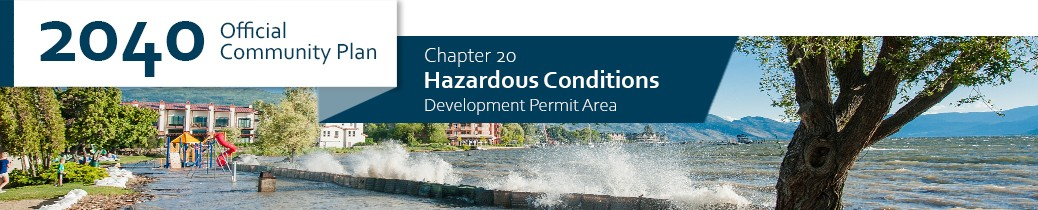 2040 OCP - Chapter 20 - Hazardous Conditions chapter header, image of flood conditions