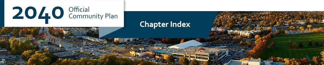 2040 OCP - Chapter Index header image, core area of Kelowna