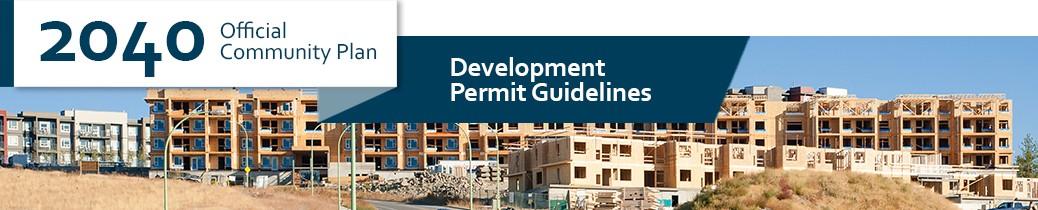 2040 OCP - Development Permit Guidelines chapter header, image of development
