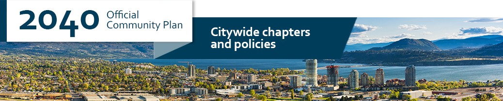 Official Community Plan 2040 banner image of citywide policies