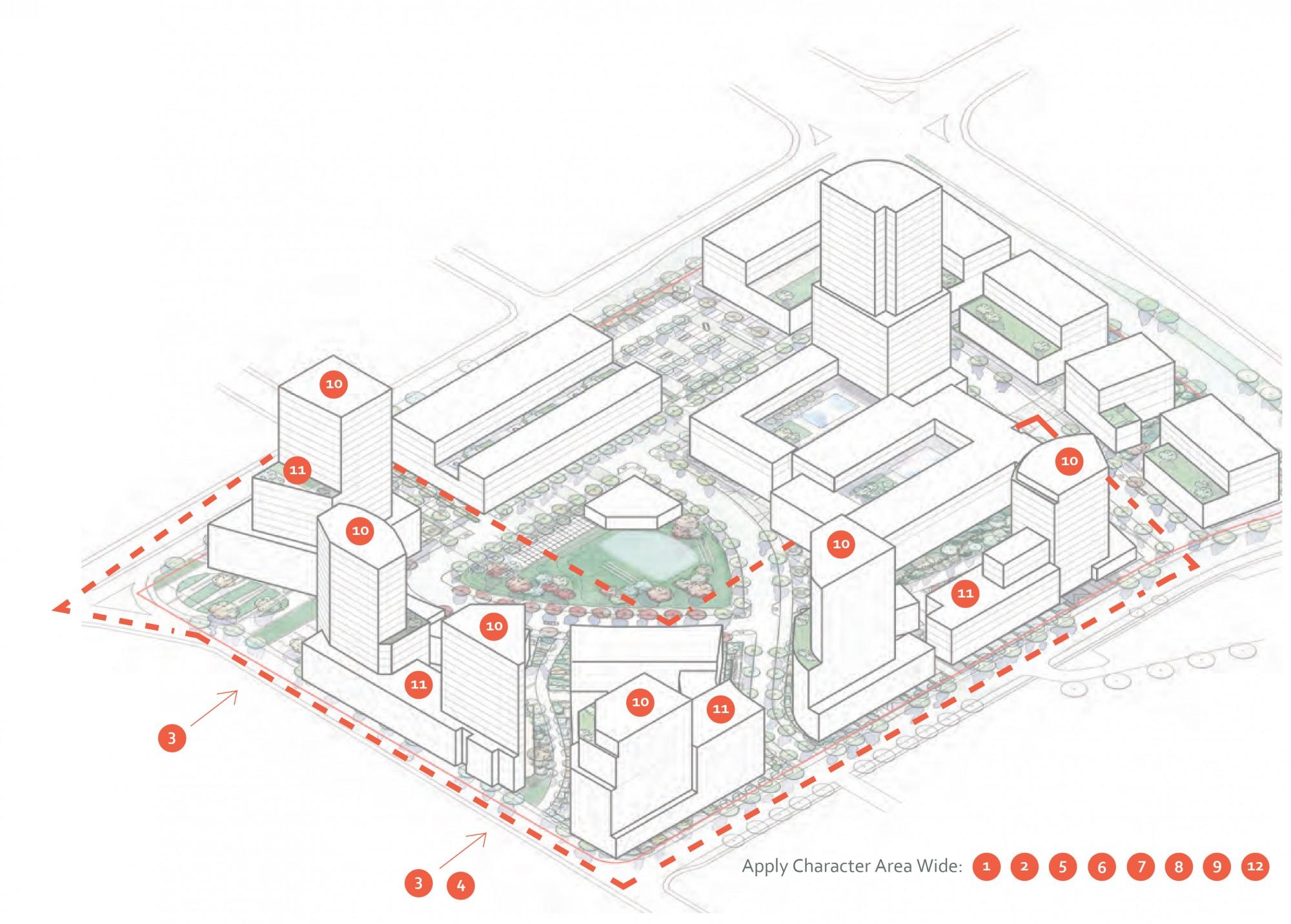 2040 OCP - Comprehensive Zone 26 - diagram of residential focus area in Capri Landmark zone