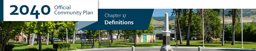 2040 OCP - Chapter 17 - Definitions chapter header, image of park in Rutland