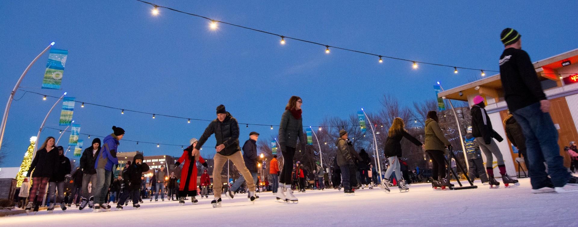 Skating in Stuart Park