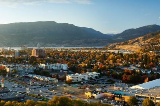 Panoramic view of Kelowna