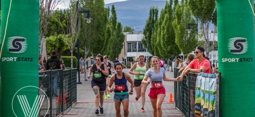 Wine country half marathon finish line