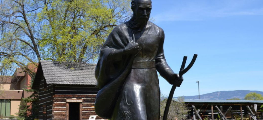 Father Pandosy Mission 150th Anniversary Commemorative Sculpture