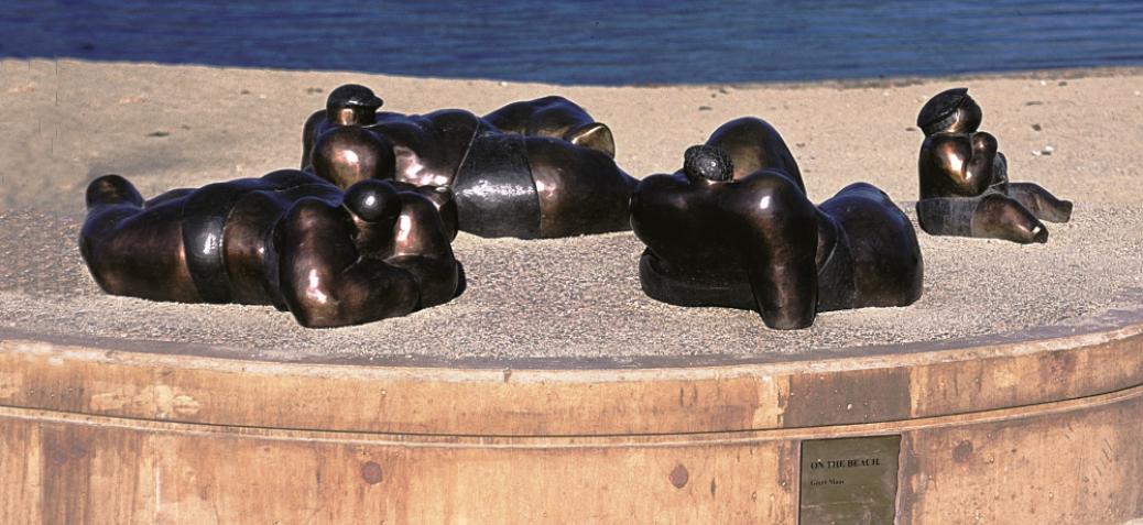 on the beach 8 0 - Geert Maas Sculpture Gardens And Gallery