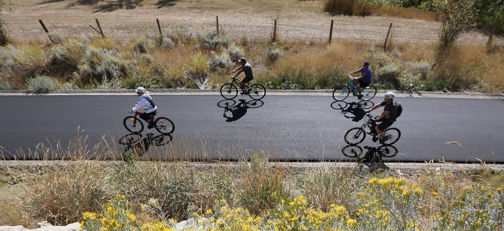 Biking on the Okanagan Rail Trail