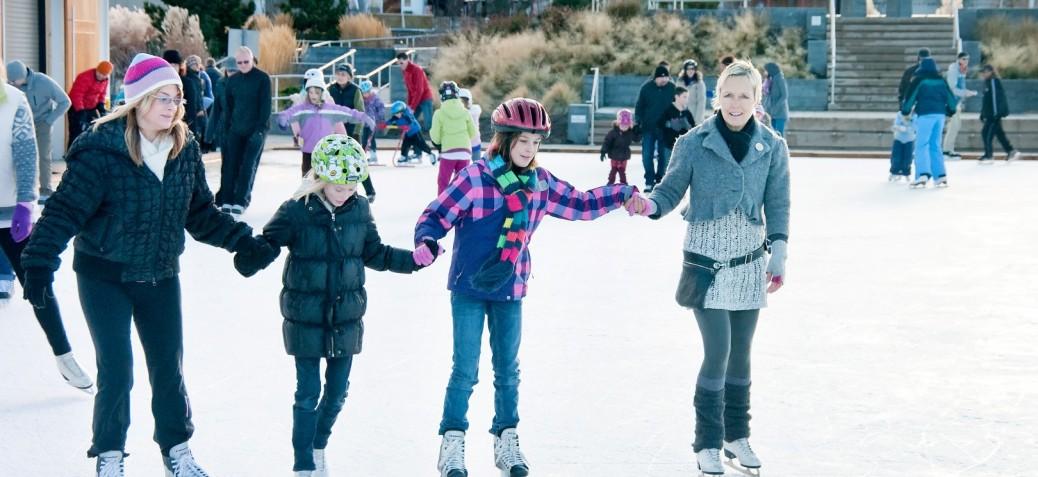 Stuart Park Ice Rink Skaters