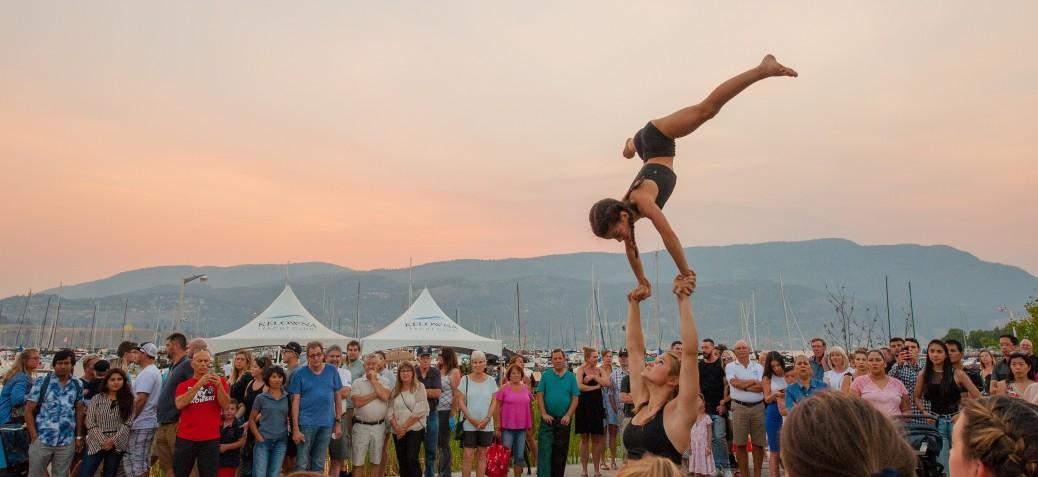 August long weekend aerial performer