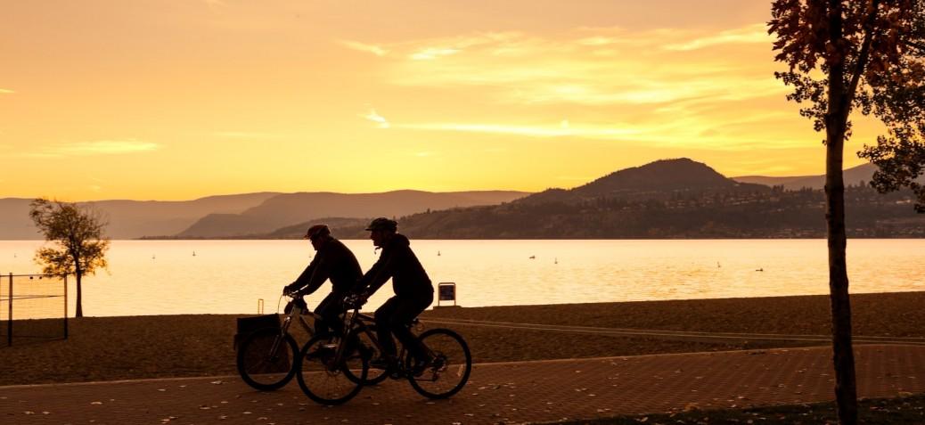 Fall evening bike ride