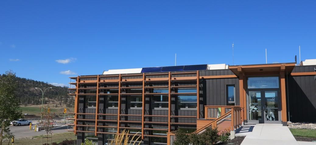 Landfill administration building