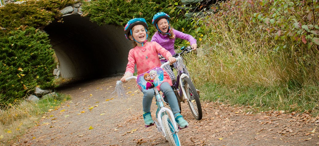 active by nature fall kids on bikes
