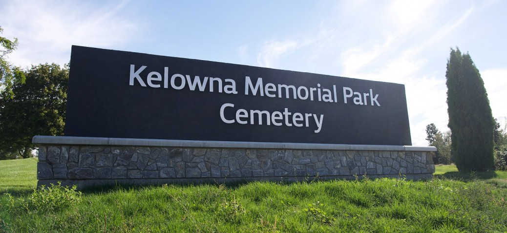 Kelowna Memorial Park Cemetery Sign