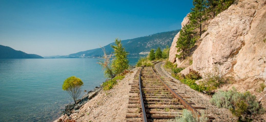 Rail Corridor Kalamalka Lake Provincial Park