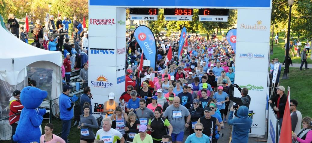 Okanagan Marathon Start