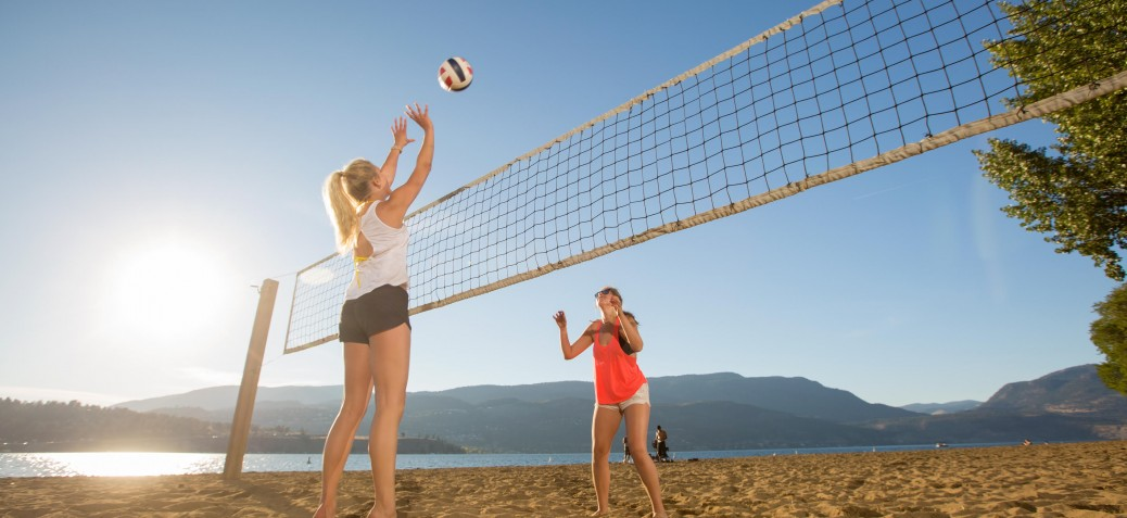Volleyball courts at Hot Sands Beach in City Park