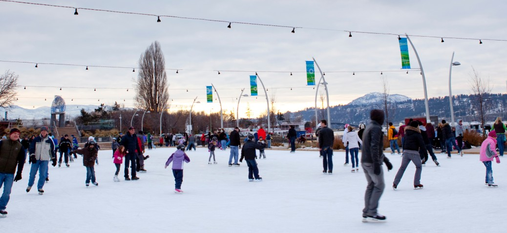 A busy day on the Stuart Park rink