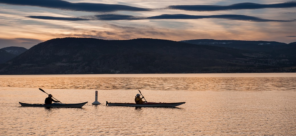 Paddling on Okanagan Lake