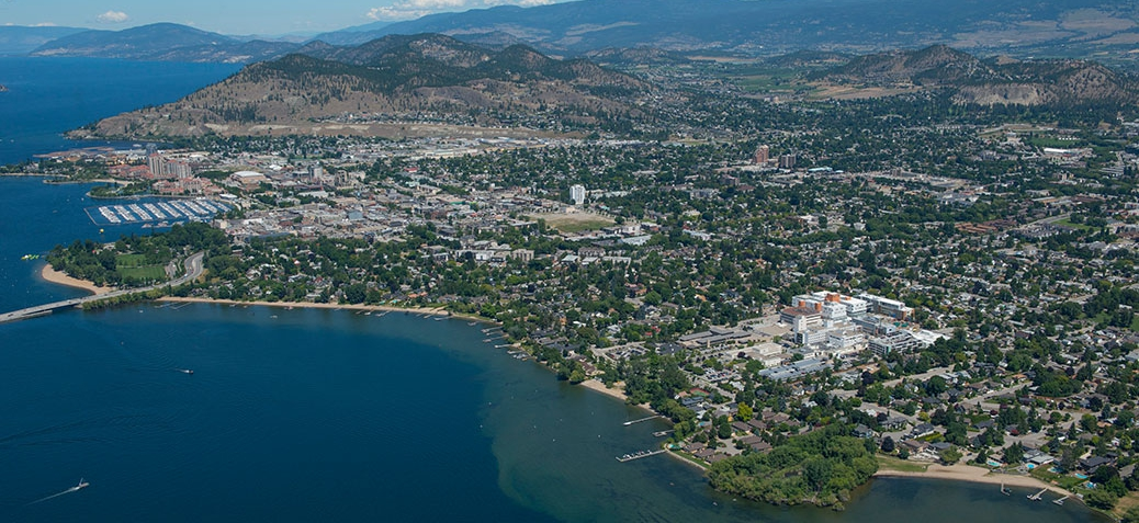 Kelowna Hospital area aerial photo