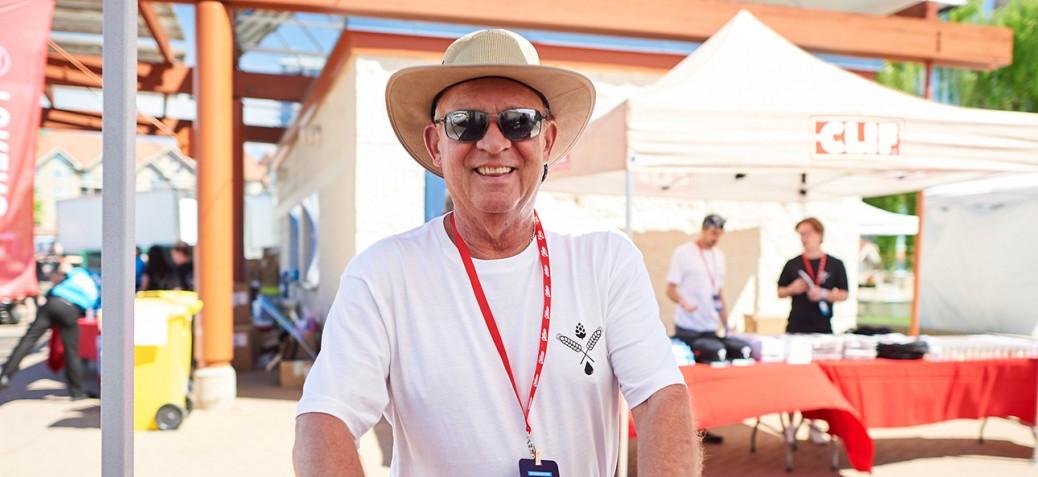 Volunteer at summer event