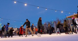 Skating in Stuart Park