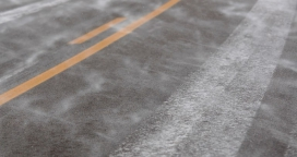 Light snow on a road