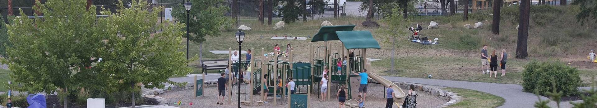 Children playing at Blair Pond park playground