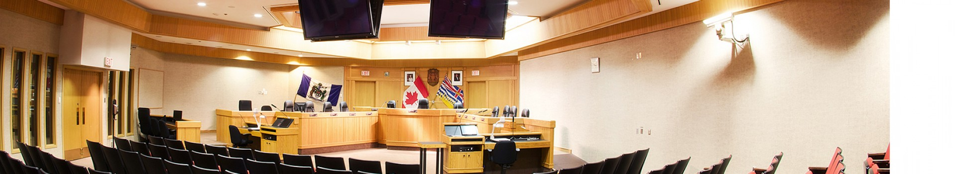 Council chambers banner